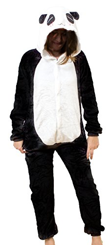 en Panda Bär Tier Kostüm Cosplay Anime Schlafanzug Pyjama Karneval Jumpsuit Kigurumi Groesse: M (Gruppe Anime Kostüme)