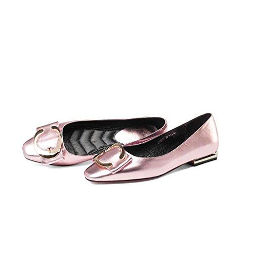 W&LMappuntito Bocca poco profonda Scarpe basse Fine con Scarpe Tacchi alti Scarpe singole posto di lavoro Sala da ballo Pink