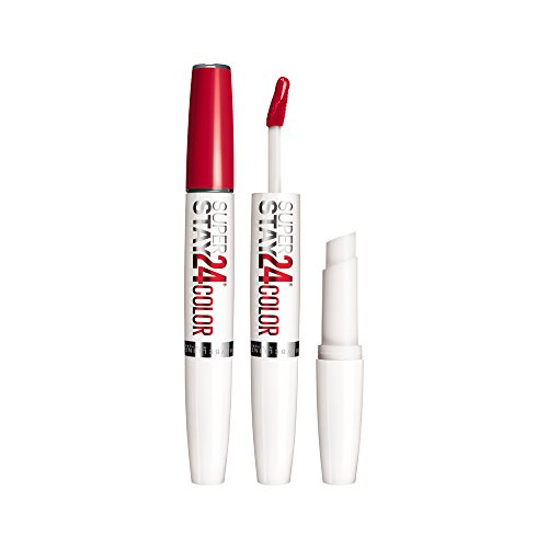 Maybelline New York Super Stay 2 Step Lipsticks, Keep it Red, 1.8g