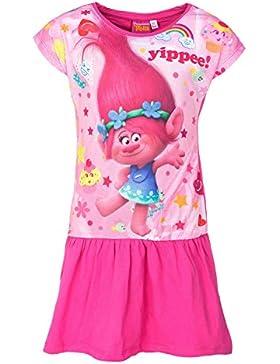 Trolls Sommer Kleid für Kinder, rosa/pink, Original Lizenzware, Gr. 92-128