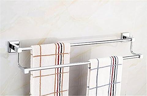 Pingofm de salle de bain Porte-serviettes en acier inoxydable double barre porte-serviettes de salle de bain Barre porte-serviettes de salle de bain Porte-serviettes,