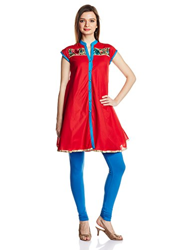 IndusDiva by Priyadarshini Rao Red Gara Work Kurti