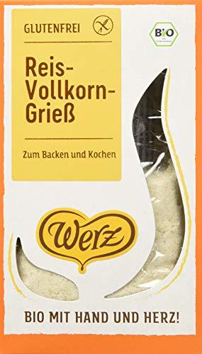 Werz Reis-Grieß glutenfrei, 6er Pack (6 x 250 g Packung) - Bio (Bio-bienenhonig)