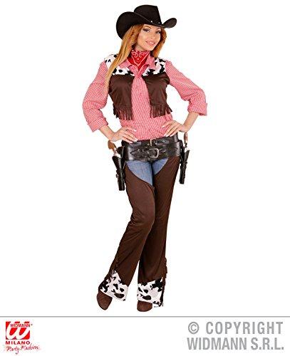 Kostüm Rodeo Girl (KOSTÜM - COWGIRL - Größe 38/40 (M), Westerngirl Western Rodeo Fest Amerika Wilder Westen Cowboys)