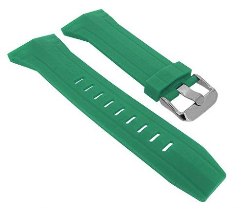 Bruno Banani Ersatzband Uhrenarmband Kunststoff Band grün für Prisma CW3 239 439
