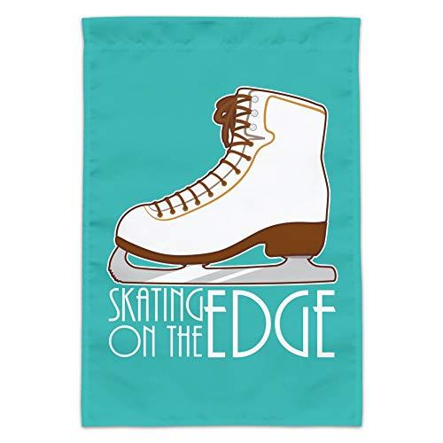 Graph & More Schlittschuhe Eiskunstlauf-Flagge Living On The Edge Garten Hofflagge (Stange Nicht im Lieferumfang enthalten)
