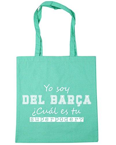 HippoWarehouse Soy del Barça, ¿Cuál es tu Superpoder? Bolso de Playa Bolsa Compra Con Asas para gimnasio 42cm x 38cm 10 litros capacidad