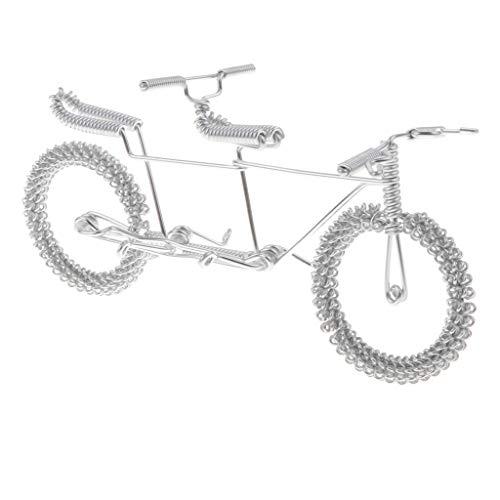 Handgemachte Fahrrad Figur Fahrradmodell Fingerfahrrad als Geldgeschenk und Mitgebsel - Silber