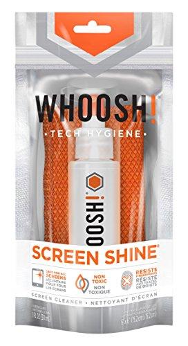 Whoosh Screen Shine Bildschirm Hygiene Spray I gegen Fingerabrücke I Bildschirmreiniger für Computer, Laptops, Tablets, Smartphones, e-Readers I beseitigt Bakterien I inkl. Mikrofaser Tuch - 30ml - Ammoniak-flüssigkeit