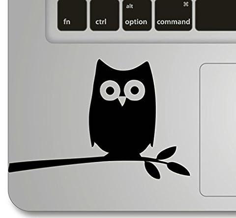 Vati Blätter Removable Night Owl on Branch Humor Teilhandmade Art Haut kühler Entwurf Vinylabziehbild Aufkleber für Trackpad Tastatur des Apple Macbook Pro Air Mac Laptop