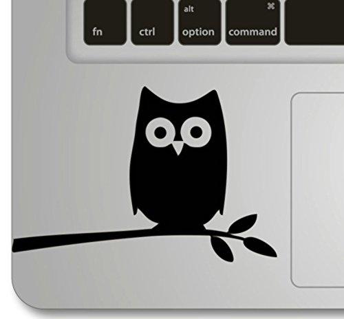 Haut Laptop Owl (Vati Blätter Removable Night Owl on Branch Humor Teilhandmade Art Haut kühler Entwurf Vinylabziehbild Aufkleber für Trackpad Tastatur des Apple Macbook Pro Air Mac Laptop)