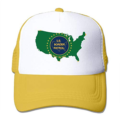 Us Border Patrol State Map Flag Fashion Baseball Cap for Men and Women Adjustable Mesh Trucker Hat -