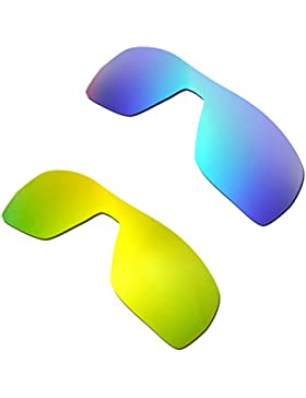Hkuco Plus Mens Replacement Lenses For Oakley Offshoot Blue/24K Gold Sunglasses