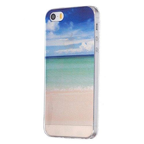 ECENCE Apple iPhone 5 5S Coque de protection housse case cover transparent 21010204 Plage