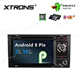 """XTRONS 7"""" Autoradio mit Touch Screen Android 9.0 Quad Core Multimedia Player Autostereo unterstützt 4G WiFi Bluetooth5.0 Plug&Play Auto Musik Streaming 2GB 16GB DAB & OBD2 FÜR Audi A4/S4/RS4"""