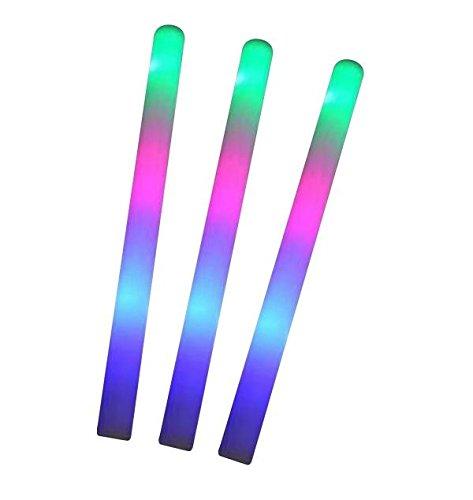 10x LED Schaumstoff Leuchtstick mit Lichteffekt, ,blinkend | Glowstick | Partylicht -