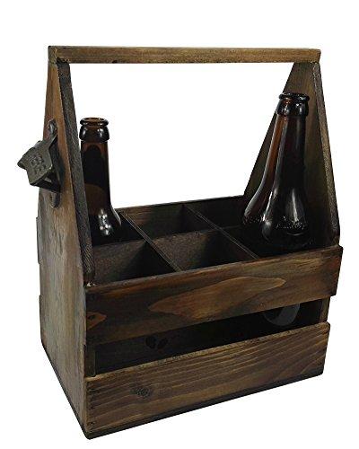Flaschenhalter BEST BEER Flaschenträger ÖFFNER Bierträger Getränkehalter Holz