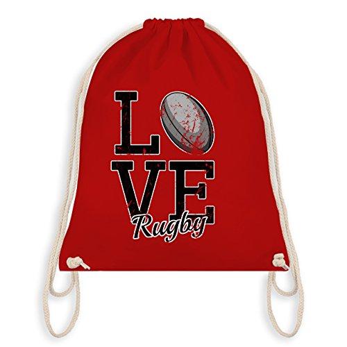 Sonstige Sportarten - Love Rugby - Unisize - Rot - WM110 - Turnbeutel & Gym Bag