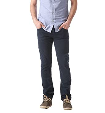 Promod Pantalon slim en toile Homme Bleu de Chine 42