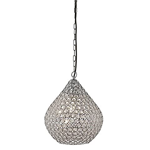 Chantilly Chrome Pendant Light With Clear Crystal