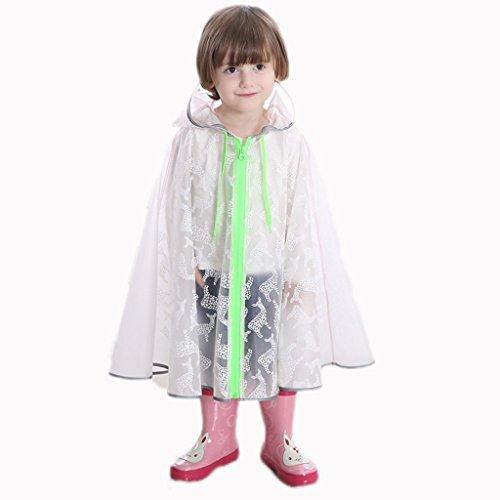 Raincoat ALXC- Kinder Baby Regenmantel, Jungen und Mädchen Regenmäntel Kindergarten Kinder Poncho Student Lange Tragbare Mode Transparent im Freien Wasserdichte Regenjacke (Farbe : A, größe : L)