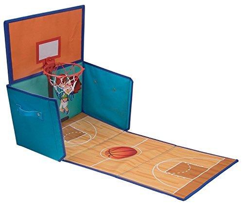 Aufbewahrungsbox & Basketballkorb in einem - faltbar - als Schrank-Organizer für Kinder geeignet - 15,5 x 10 x 9,75