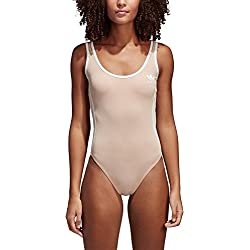 Adidas 3Rayas–Bañador, Mujer, 3 Streifen, Ash Pearl, 40