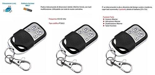 3 pezzi telecomando supplementare per centrali di allarme allarme antifurto casa wireless gsm senza fili