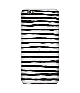 Black And White Stripes Gionee S6 Case