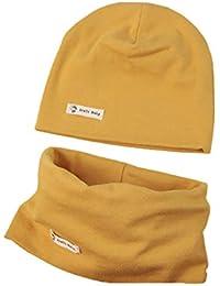 Boomly Autunno e Inverno Caldo Cute Tinta unita Morbido Cappello in Cotone  Berretto e Sciarpa Scaldacollo 2b702c7fd841