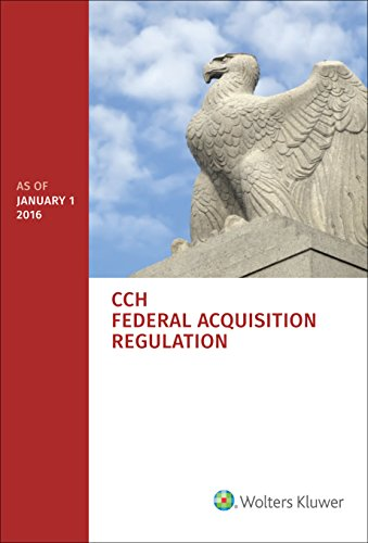 Federal Acquisition Regulation (FAR) - as of January 1, 2016
