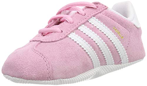 wholesale dealer ae907 3555f adidas Unisex Babies  Gazelle Crib Gymnastics Shoes, True Pink FTWR  White Gold