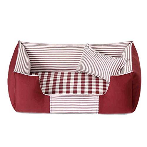 Haustier-Kisten-Bett-Haustier-Bett-Maschinen-waschbare vier Jahreszeiten verfügbares rechteckiges breathable (M-Art 72 * 52 Cm) 3 Farben vorhanden (Farbe : Red)