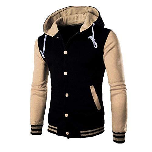 Discount Boutique Herren Sweatshirt Jacke Langarm Kontrast Knopf Baseball Uniform lässig Sport Top -