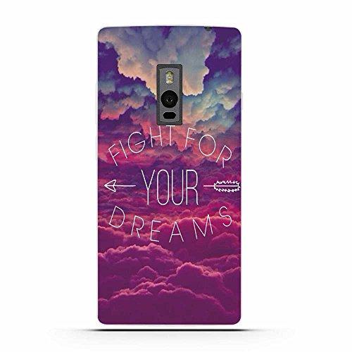 OnePlus Two Hülle, Fubaoda Geflügeltes Wort Stil TPU Case Schutzhülle Silikon Case für OnePlus Two (1+2)