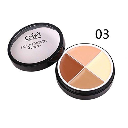Allbesta 4 Farben Concealer Palette Make-up Foundation Creme Augenringe Abdecken Camouflage Brighten Skin