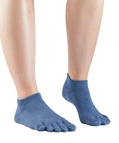 Knitido Everyday Essentials Sneaker   Kurze Zehensocken aus Baumwolle, Größe:35-38, Farbe:Dull Blue