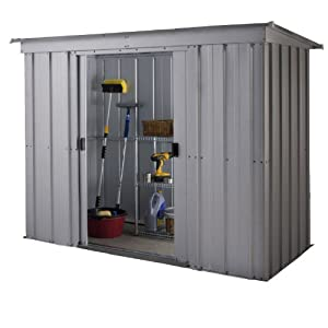 Yardmaster International 84PZ 8 x 4ft Store-All Silver Pent Roofed Metal Shed