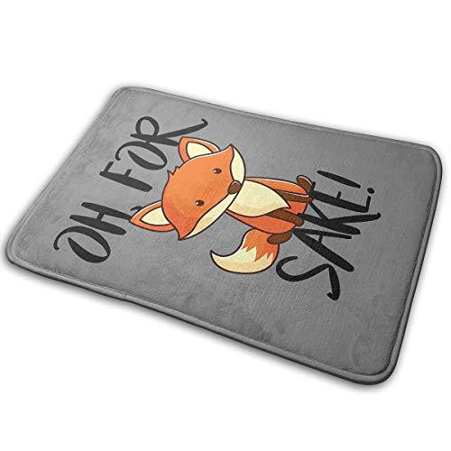 Dimension Art Badematte aus Memory-Schaum, Rutschfest, saugfähig, super gemütlich, weich, Samt, 39,9 x 59,9 cm, Polyester, Oh for Fox Sake 11, ()
