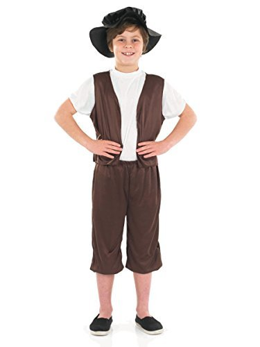 Tudor Boy - Childrens Fancy Dress Costume, X-Large 10-12 Years by Fun Shack