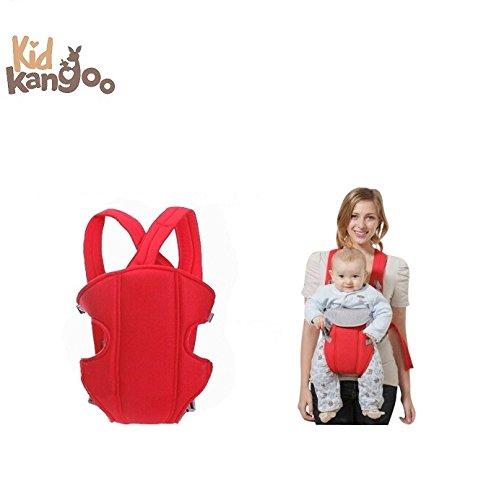 Ergonomischer Babytragerucksack zum Transportieren deines Babys – Bequeme Babytrage aus hochwertigen Materialien – Verstellbarer Rucksack zum Anpassen an die Größe deines Babys (Schwarz und Rot) (Anpassen Rucksäcke)
