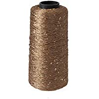 SUPVOX Hilo de algodón Hilo de lentejuelas Hilo de crochet Hilo de punto de punto de cruz de punto de punto de bordado de Hardanger Hardanger (250 g oro)