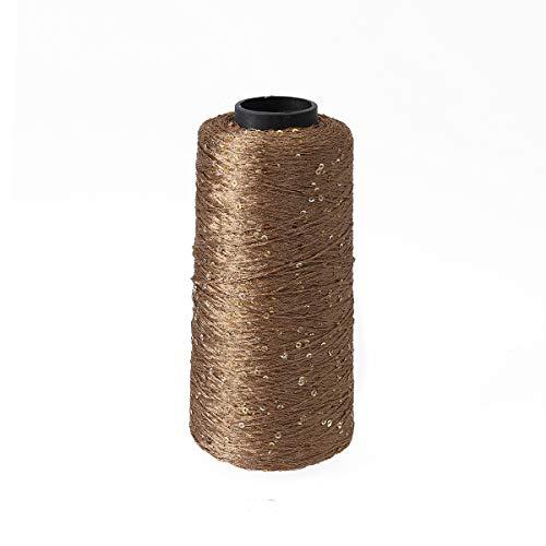 SUPVOX Hilo algodón Hilo lentejuelas Hilo crochet