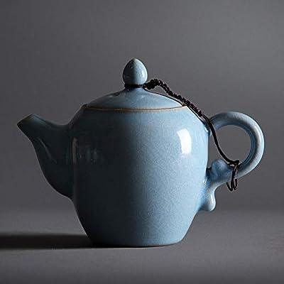 YZPCH Théière Bleue de Saule de Churchill, 40 onces