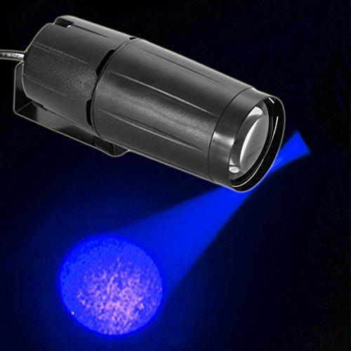 GGG Pinspot LED DJ Effekt Licht Party Club Bar Glanz Lampe Kabelbaum 3W Festplatte Mirror Ball-Hatte blau -