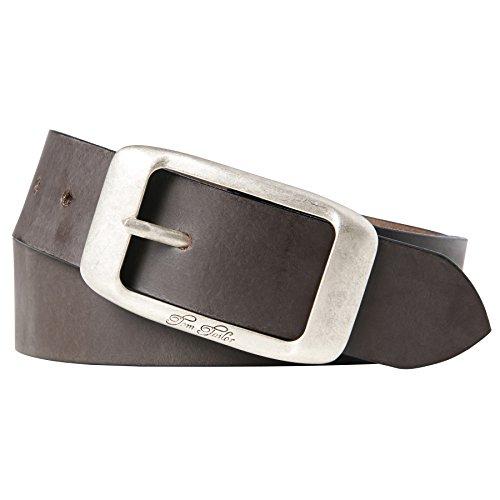 TOM TAILOR für Frauen Belts Leder-Gürtel im Used-Look, D.braun /Dk. Brown, 90