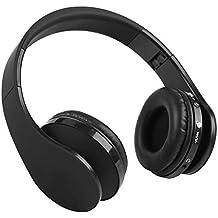 Auriculares Gaming Bluetooth 4,1 con Micrófono Sonido Estéreo, Casco Gaming Inalámbrico Plegable con
