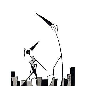 Olivier Cornil – Jazz sur la lune – Tuschezeichnung – 24 x 32 cm