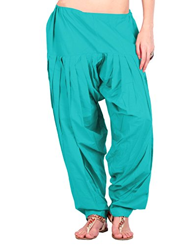 Estyle Women's Cotton Relaxed Maternity Bottom (502-77P_Tropical Green_Free Size)