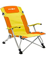 Brunner Bula XL - Silla de Playa, Color Naranja y Amarillo